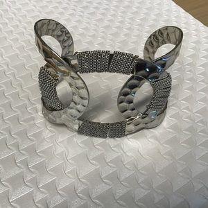 Silver cuff style bracelet